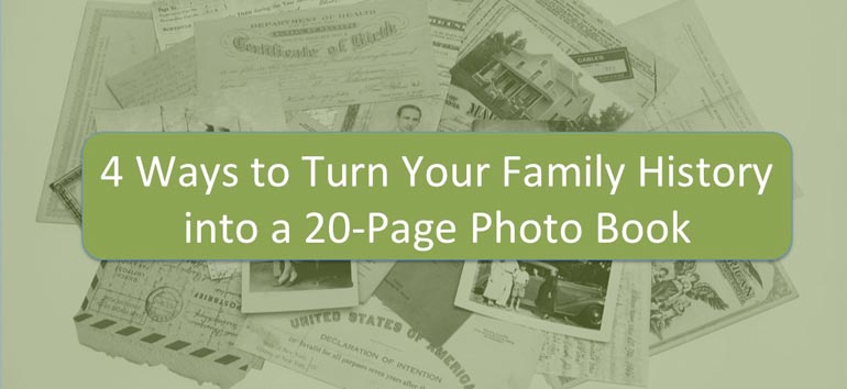 20-page family history photo book