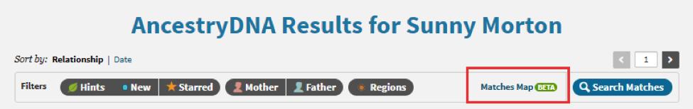 ancestrydna map locations