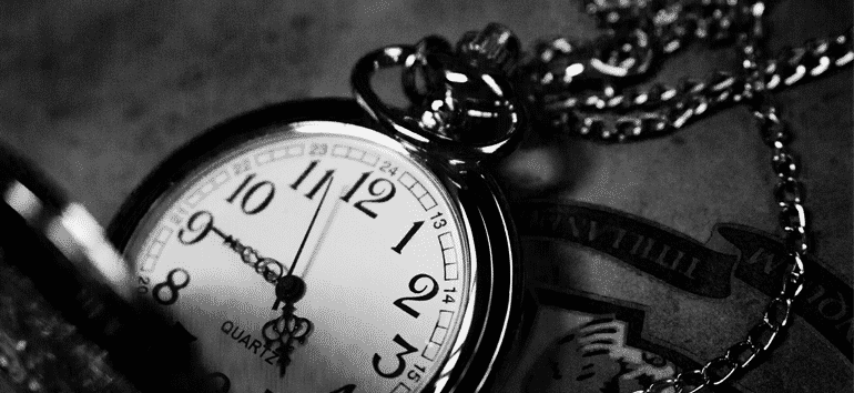 Antique pocket watch keeping time.