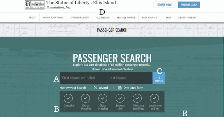 Searching New York Passenger Lists