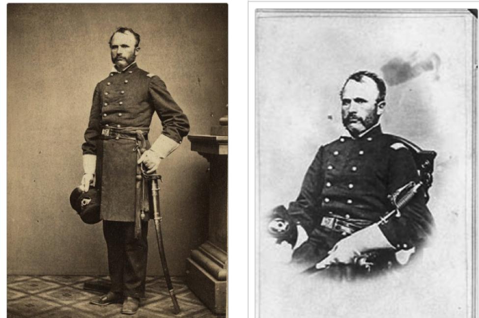 Portrait of a Civil War solider in uniform.