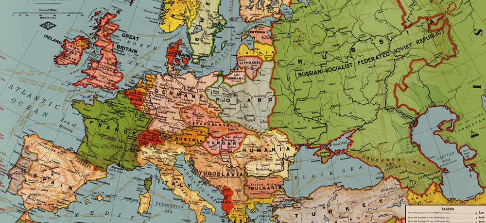 War is Over: A Post-WWI European Map - Family Tree