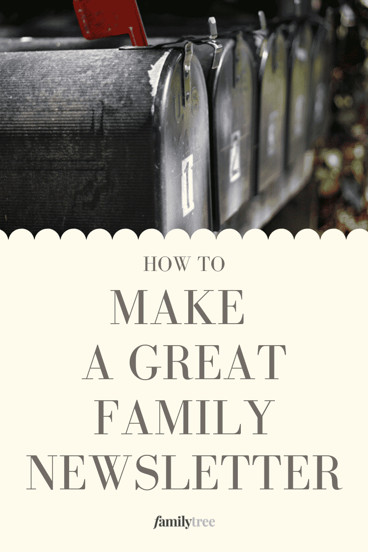 How to Make a Family Newsletter pin