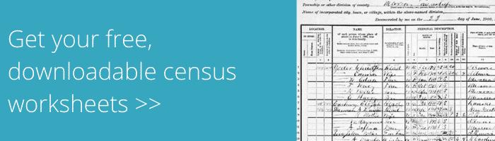 census worksheets banner