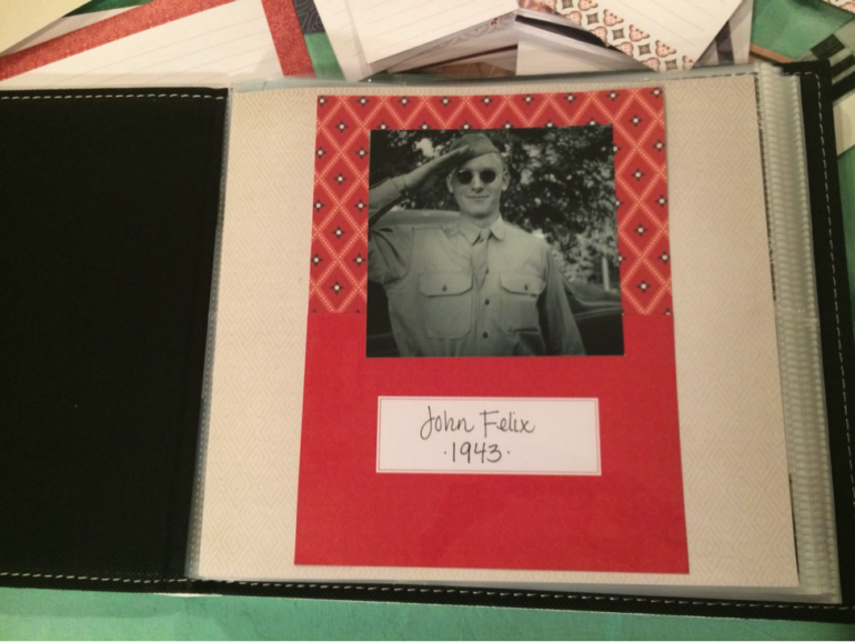 Front cover of scrapbook