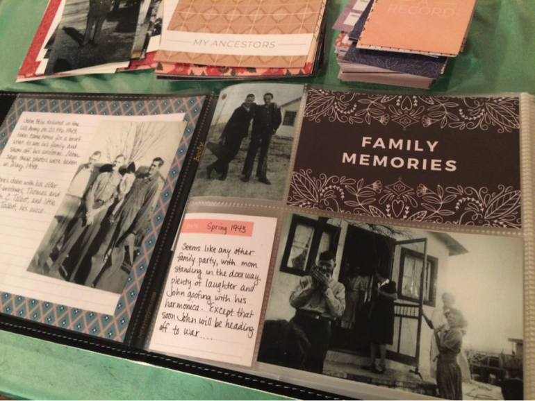 Example scrapbook page.
