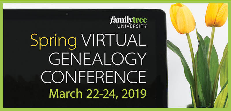 2019 Spring Virtual Genealogy Conference creative
