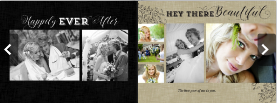 Screen shot from Amazon Prints, one of the best photo book services for family history albums.