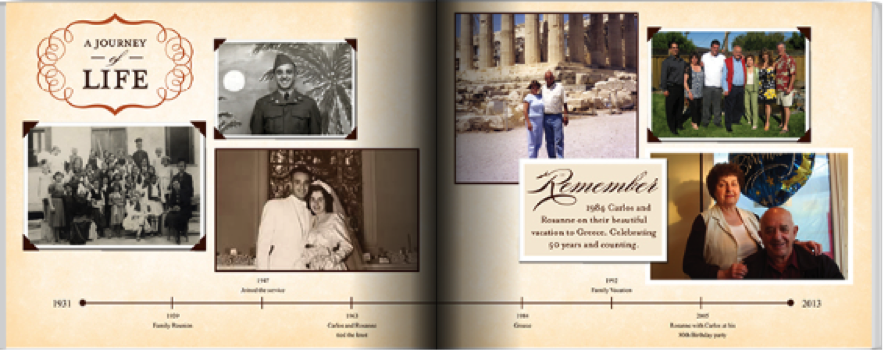 Screen shot from Shutterfly.com, one of the best photo book services for family history albums.