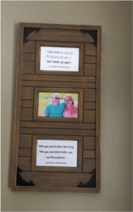 Family history displays with grandparent quotes (2).
