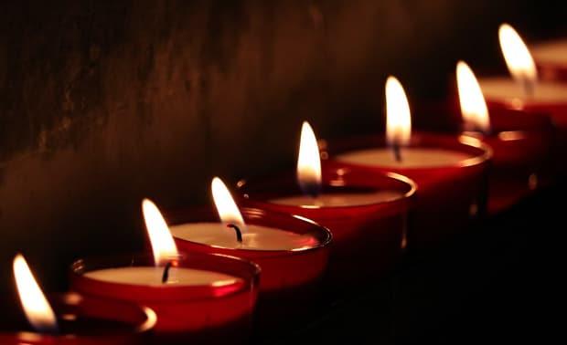 Memorial candles.