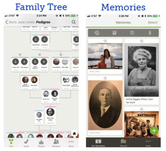 Screen shot of FamilySearch.org app, one of six genealogy mobile apps we reviewed.