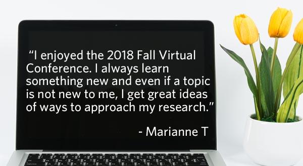Virtual Genealogy Conference testimonial