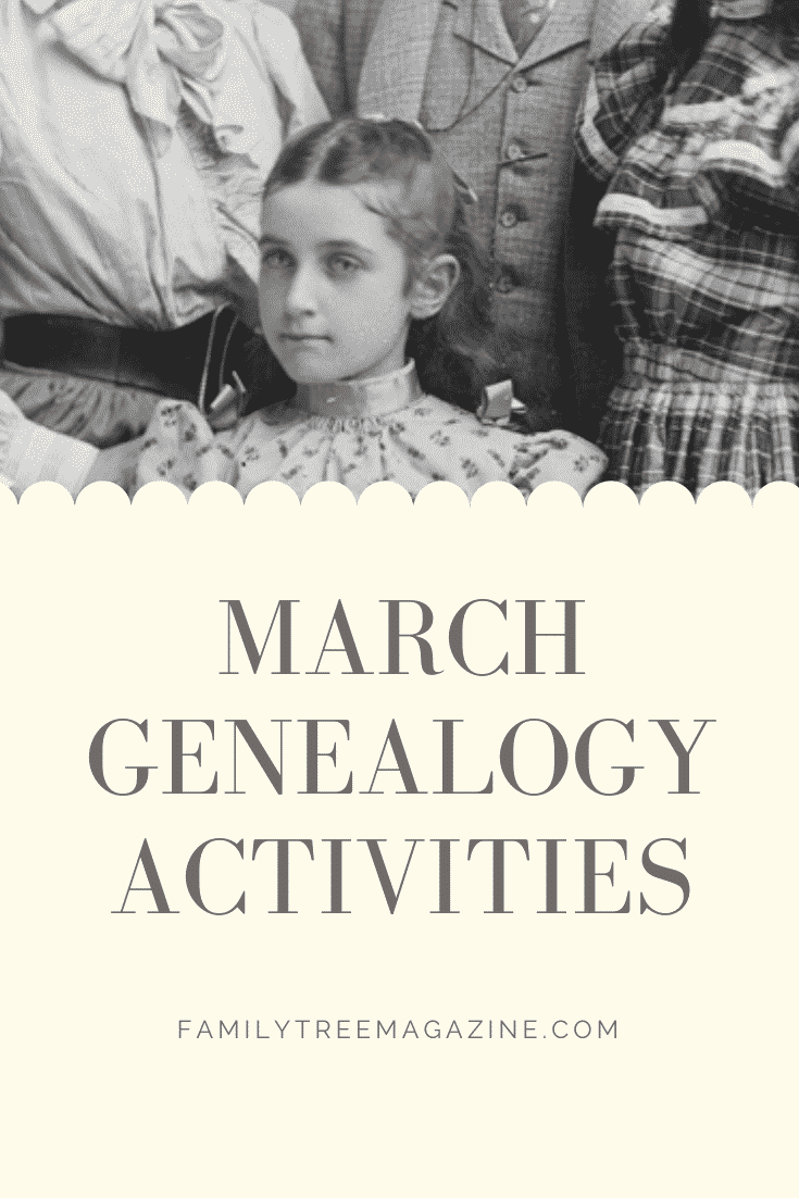 5 Genealogy Activities to Do in March