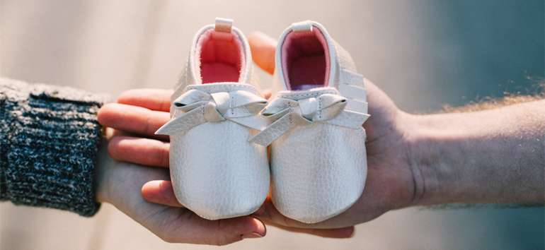 Saving baby items means preserving baby shoes.