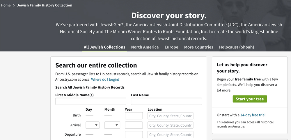 You can also search for your Ashkenazi Jewish genealogy on Ancestry, which has many of the same records as JewishGen.