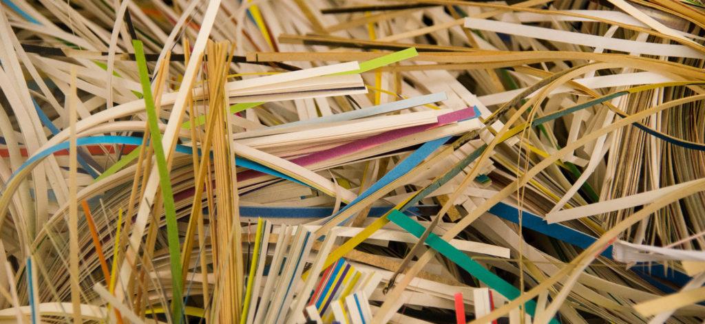 Deleted data, shredded paper.
