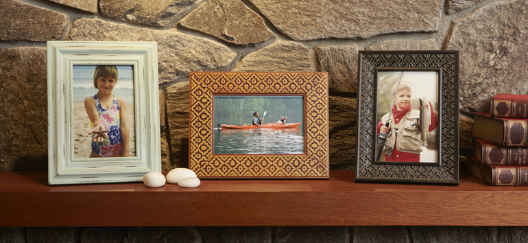 Framing treasured memories is among the simplest family vacation photo projects.