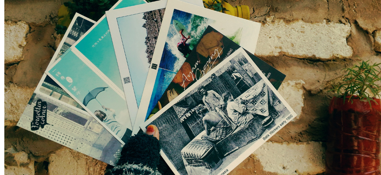 Create photo postcards to share your vacation with loved ones.
