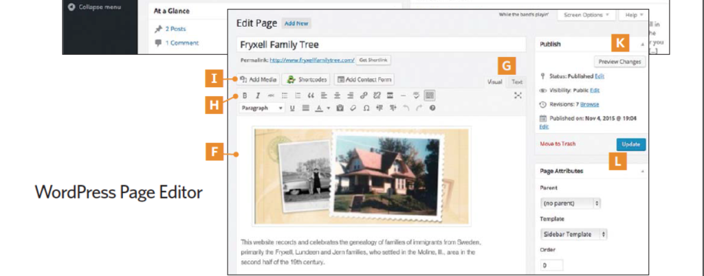 Create a beautiful family website by following these six steps.