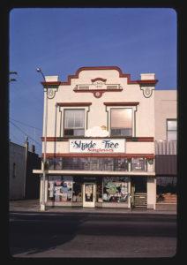 Shade Tree Sunglasses store in Grants Pass, Oregon, circa 1987.