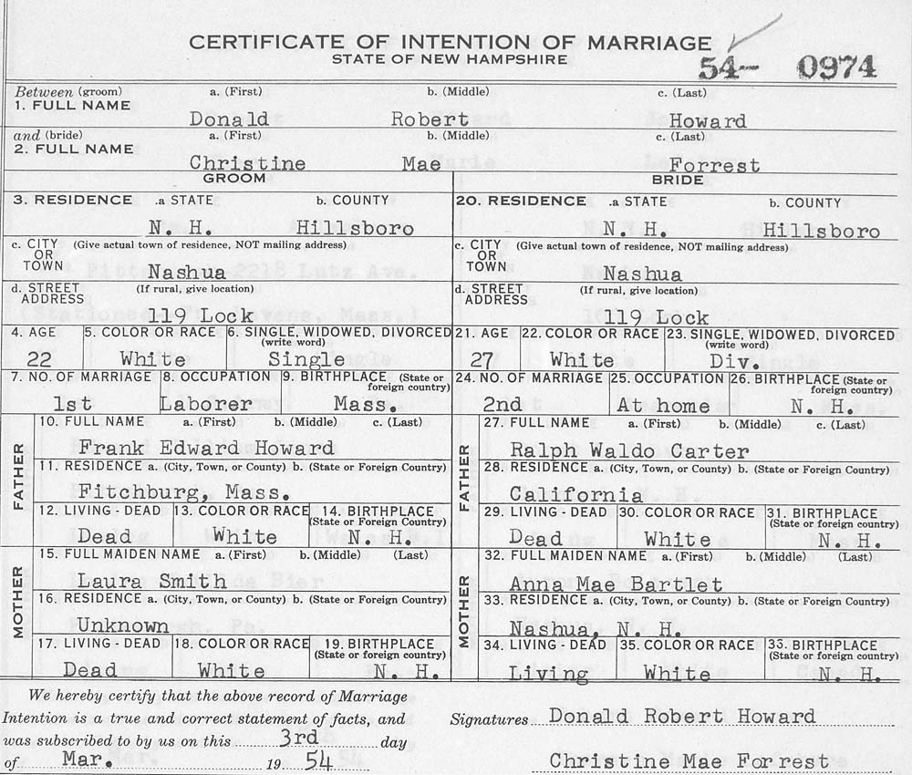 Details in vital records can include maiden names—those of the bride, as well as of the bride's and groom's mothers.