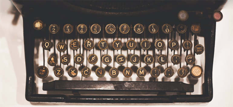 A brief overview of typewriter history.