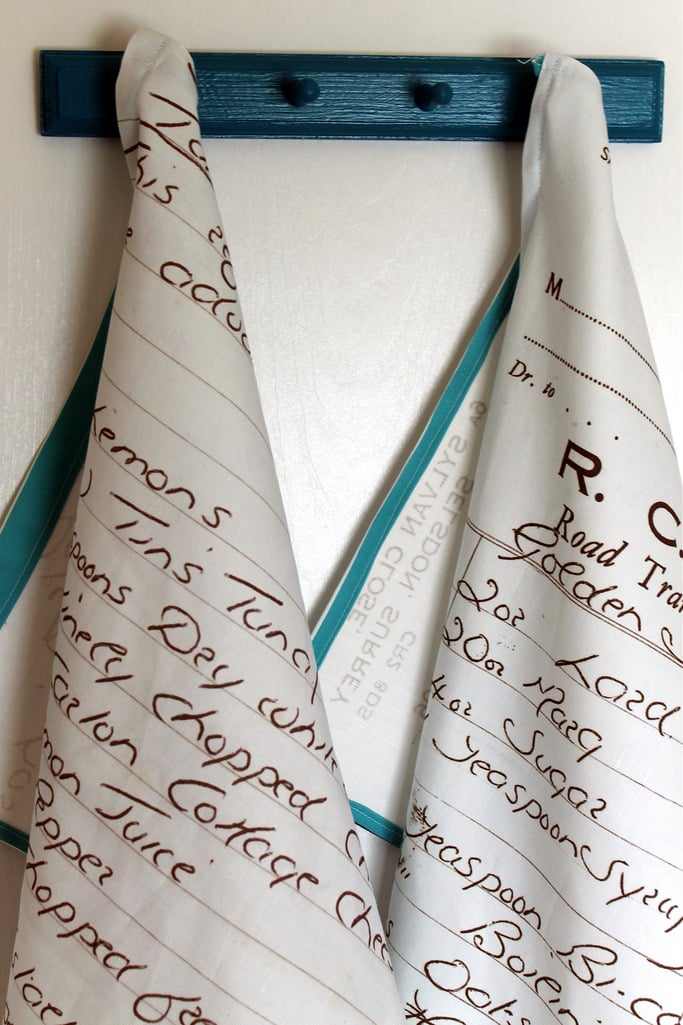 recipe towels craft