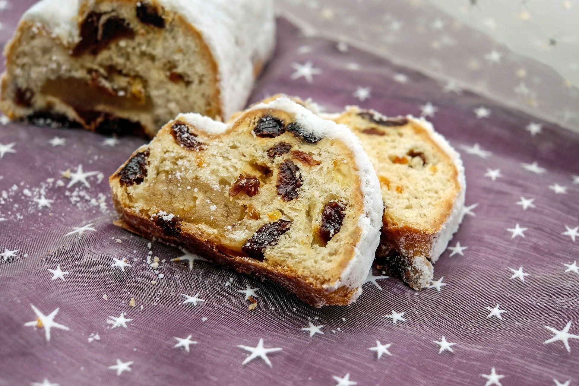 German Christmas stollen bread