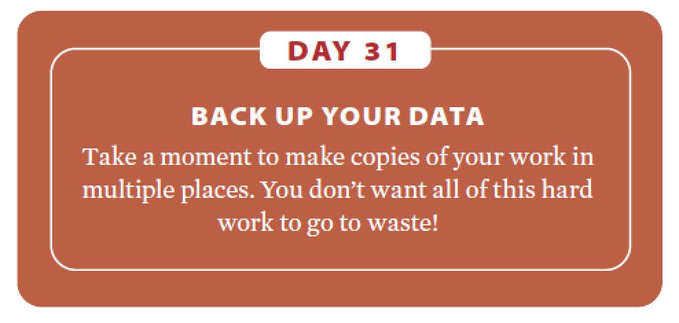 Genealogy fitness plan: Day 31.