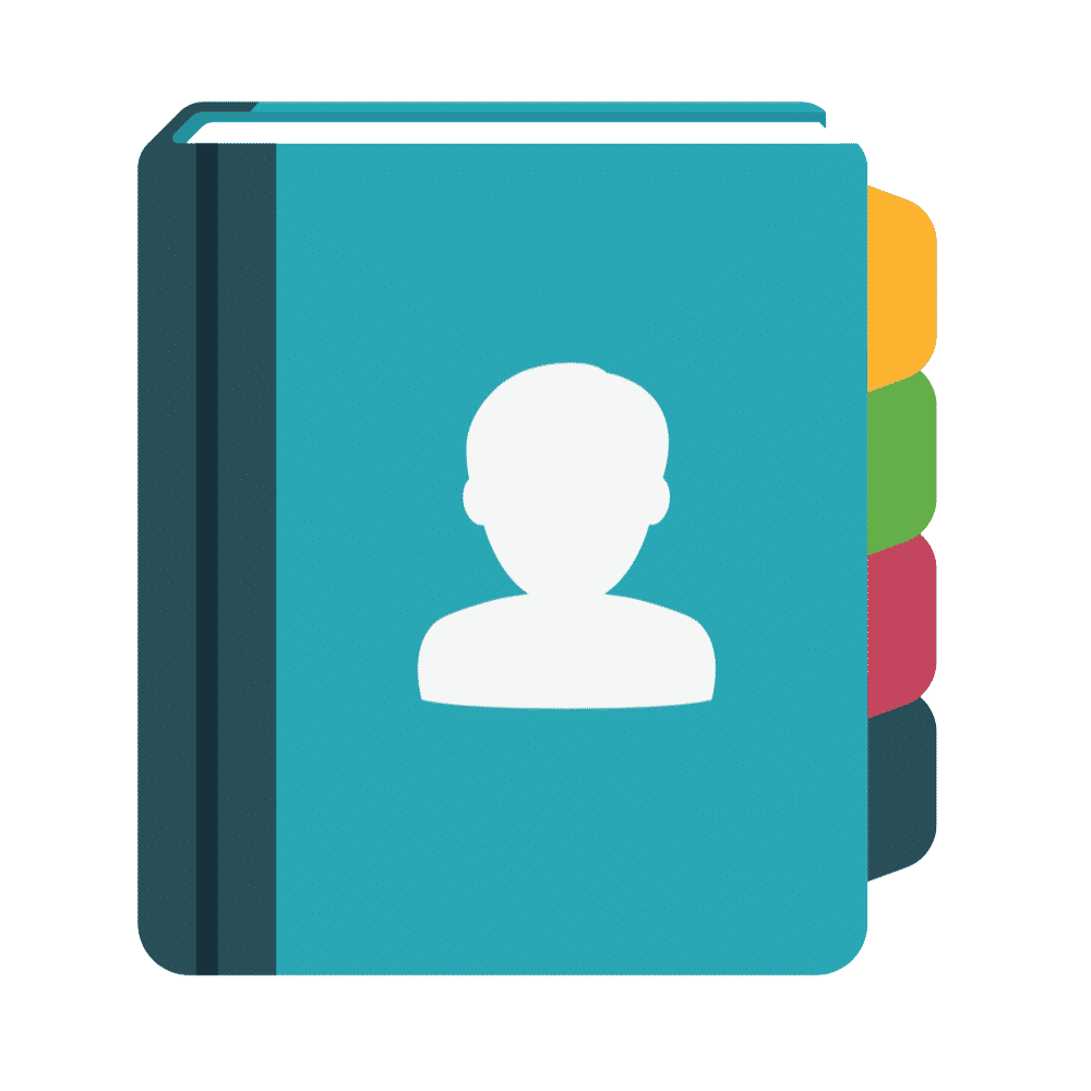 Address book icon.