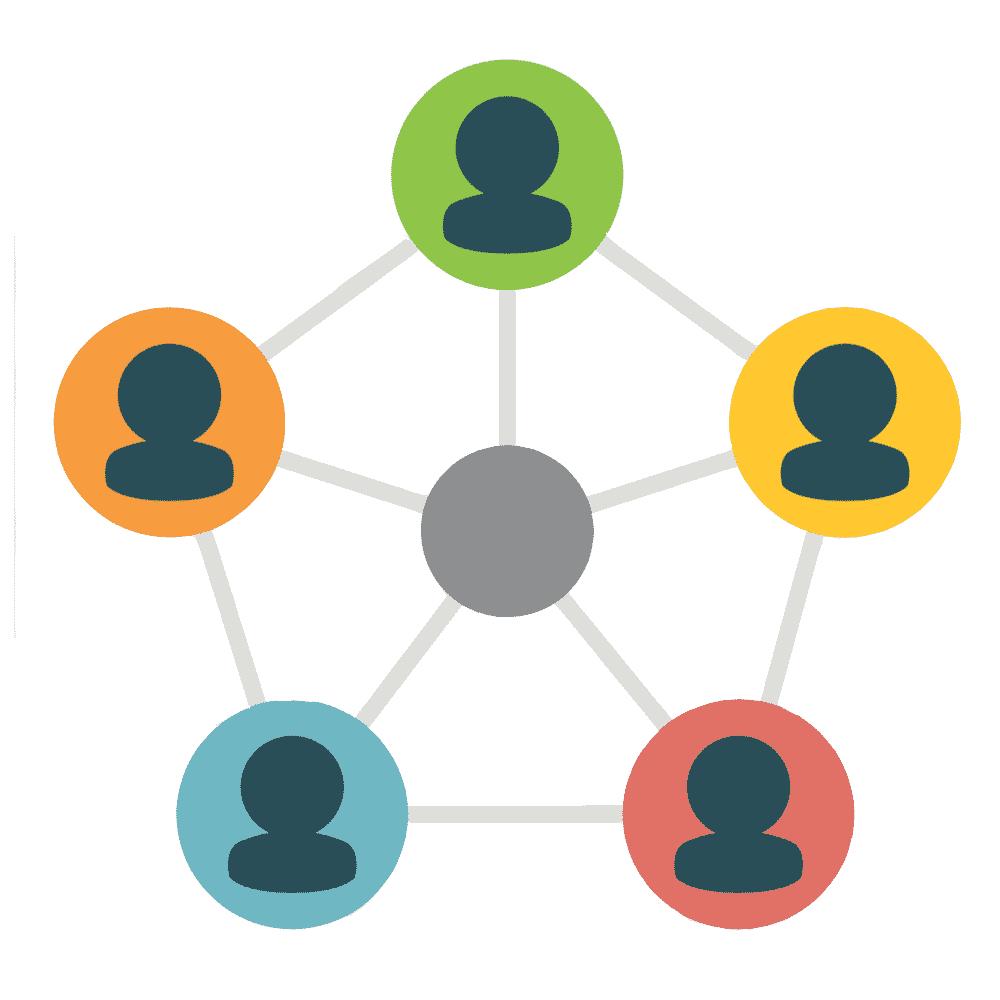 Family network icon.