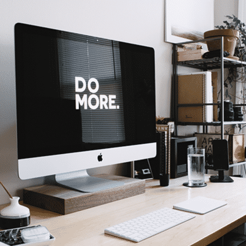 Organized home office.