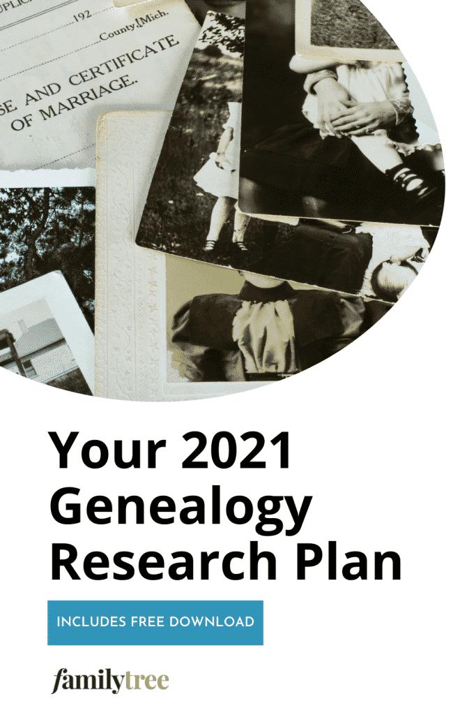 Genealogy Research Plan 2021