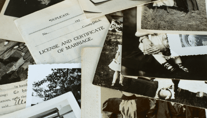 Genealogy photos and documents