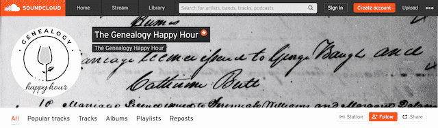 the genealogy happy hour podcast on soundcloud