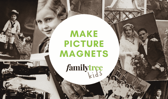 How to make family picture magnets.