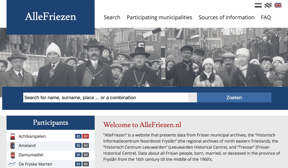 AlleFriezen home page