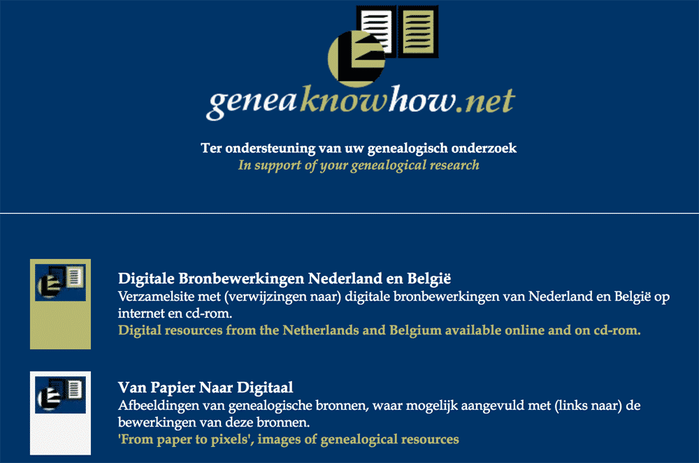 GeneaKnowHow home page