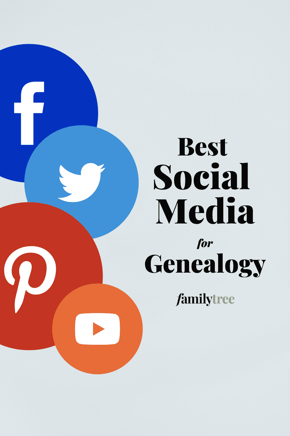 Best Social Media for Genealogy Pinterest pin.