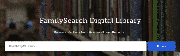 Search bar for the FamilySearch Digital Library