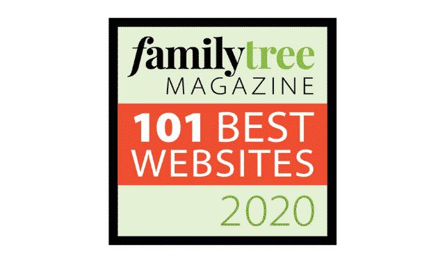 Logo for 101 Best Genealogy Websites from Family Tree Magazine