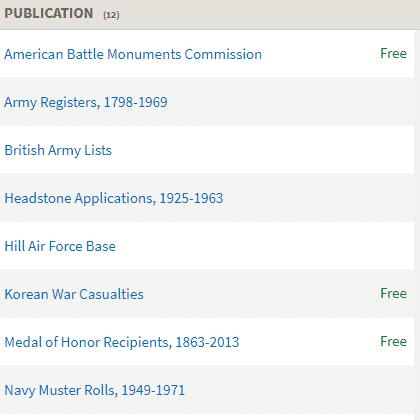 Korean War databases on Fold3.com