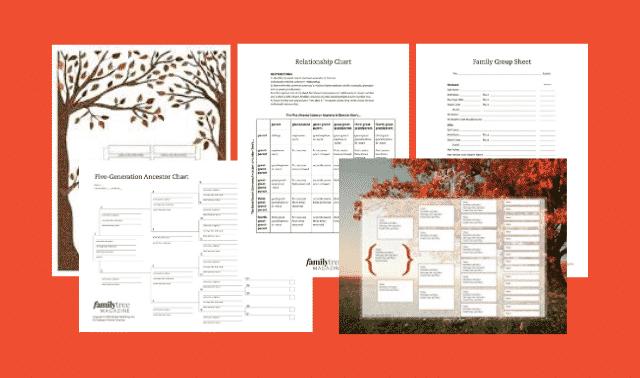 FIve free family tree templates from Family Tree Magazine.