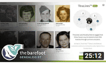 Screenshot of The Barefoot Genealogist's YouTube channel
