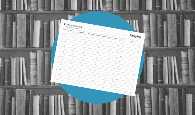 A genealogy form for tracking research requests for libraries and archives.