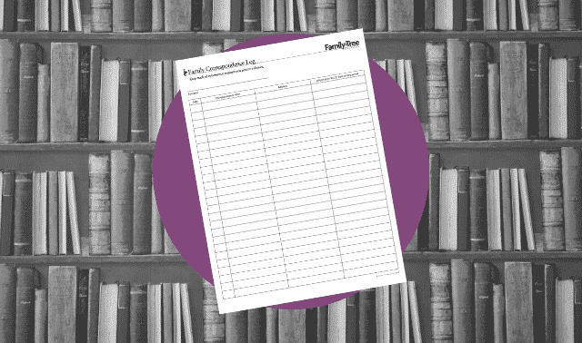 A genealogy form for tracking research requests from family members.