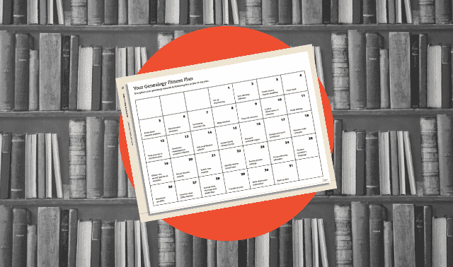 A free 31-Day Genealogy Research Plan Calendar form download from Family Tree Magazine.