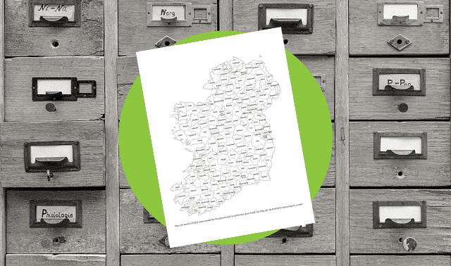 Free Irish Poor Law Unions Map download from Family Tree Magazine.