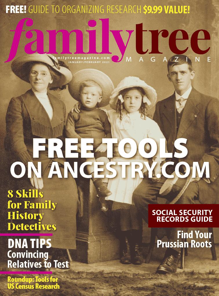 Family Tree Magazine Cover Art
